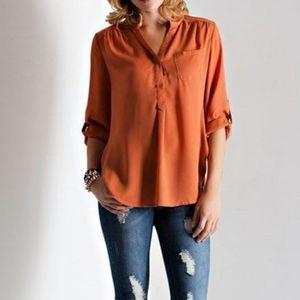 Loft silk blend shirt